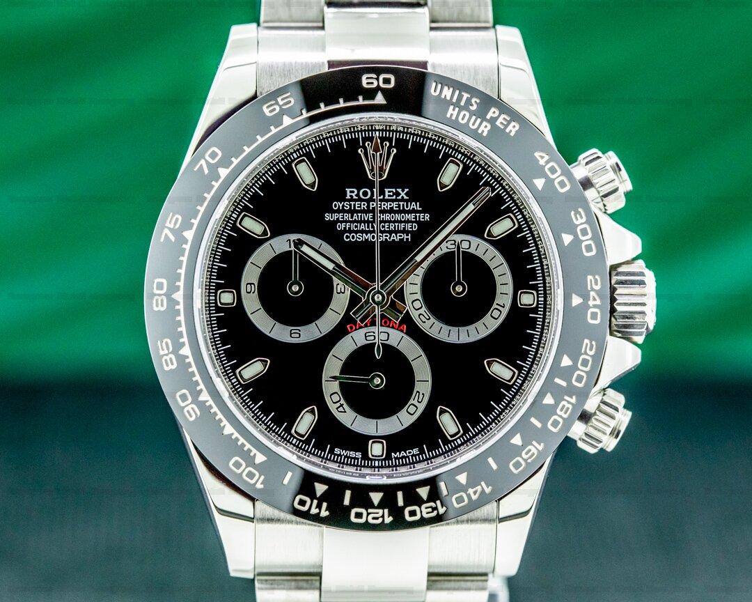 Rolex Daytona 116500 Ceramic Bezel SS / Black Dial Ref. 116500LN