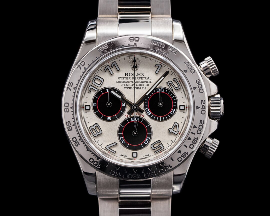 Rolex Daytona 116509 Black Arabic 18K White Gold / Panda Dial Ref. 116509