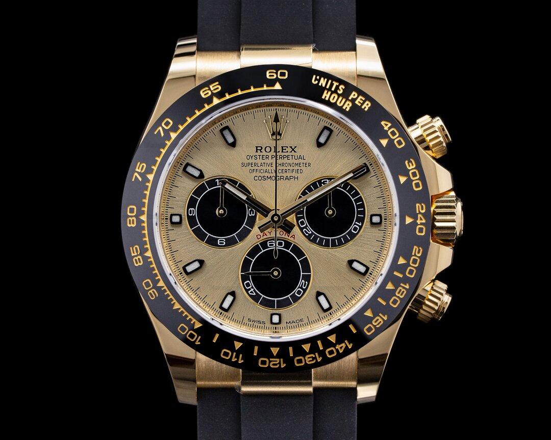 Rolex Cosmograph Daytona Ceramic 18K Yellow Gold / Champagne Dial 2021 Ref. 116518