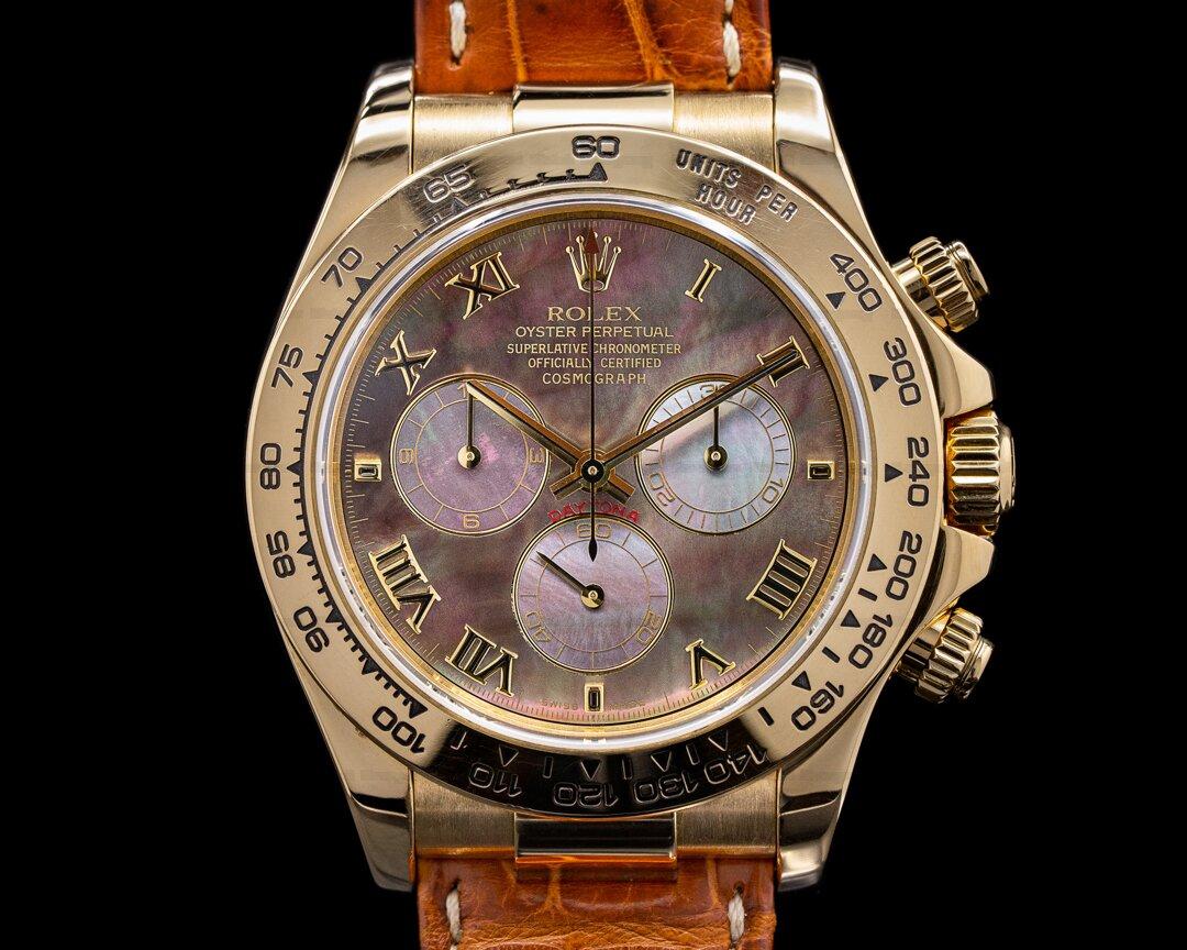 Rolex Daytona 116518 18K Yellow Gold / Tahitian MOP Dial Ref. 116518