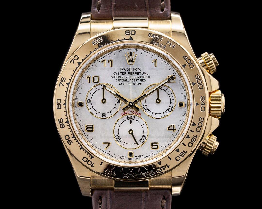 Rolex Daytona 116518 18K Yellow Gold / White MOP Dial Ref. 116518