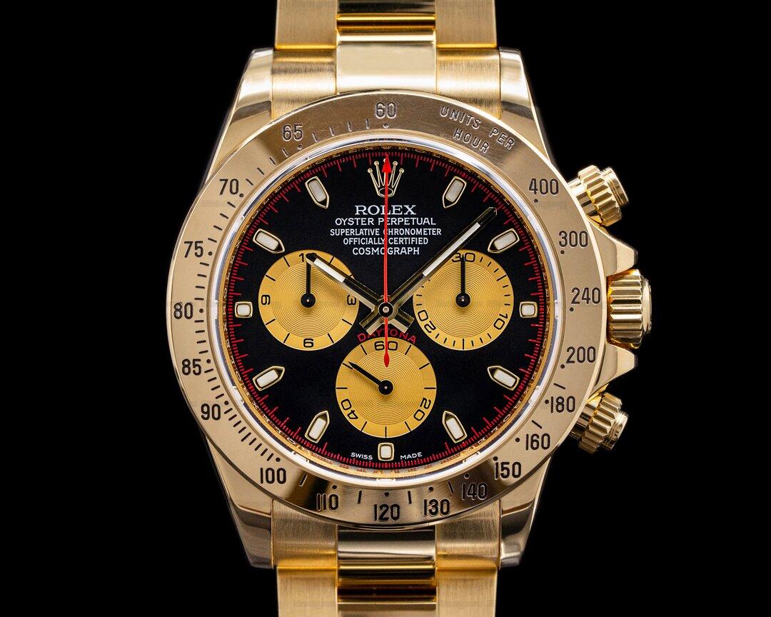 Rolex Daytona 116528 18K Yellow Gold / Black Dial Paul Newman Ref. 116528