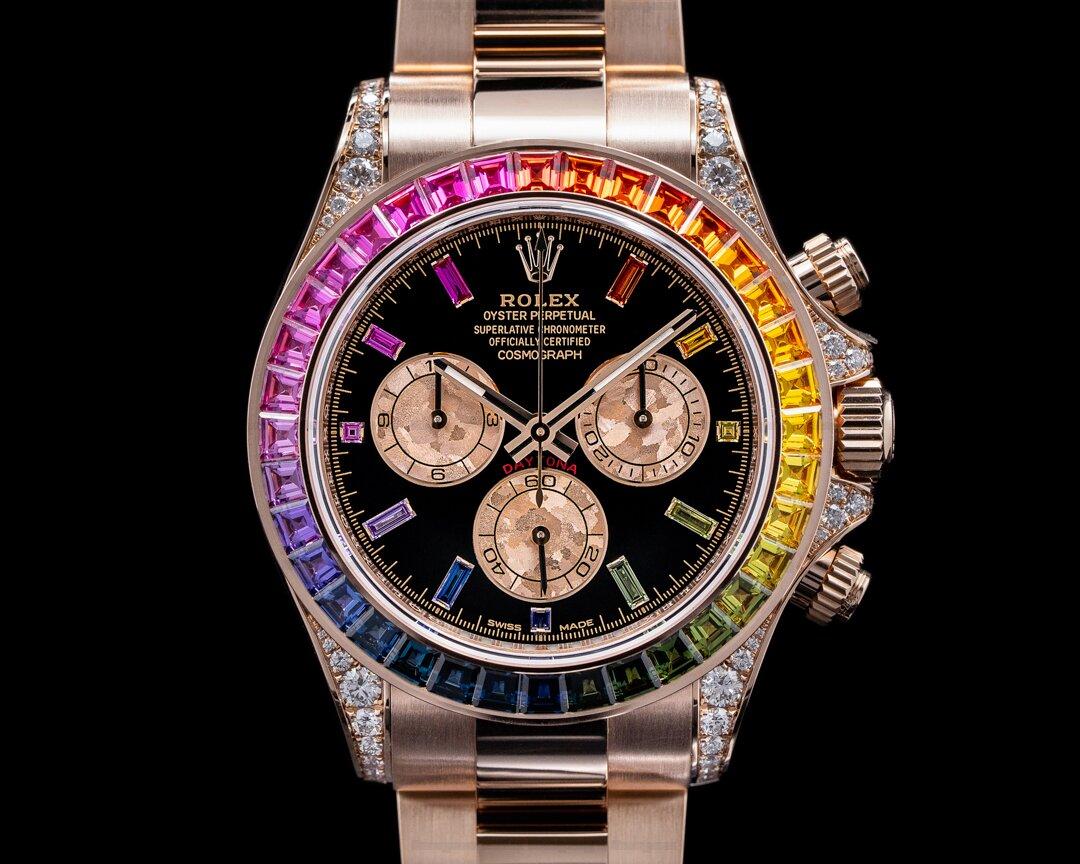 Rolex Daytona 116595 RAINBOW / Rose Gold Black Dial 116595RBOW UNWORN Ref. 116595RBOW