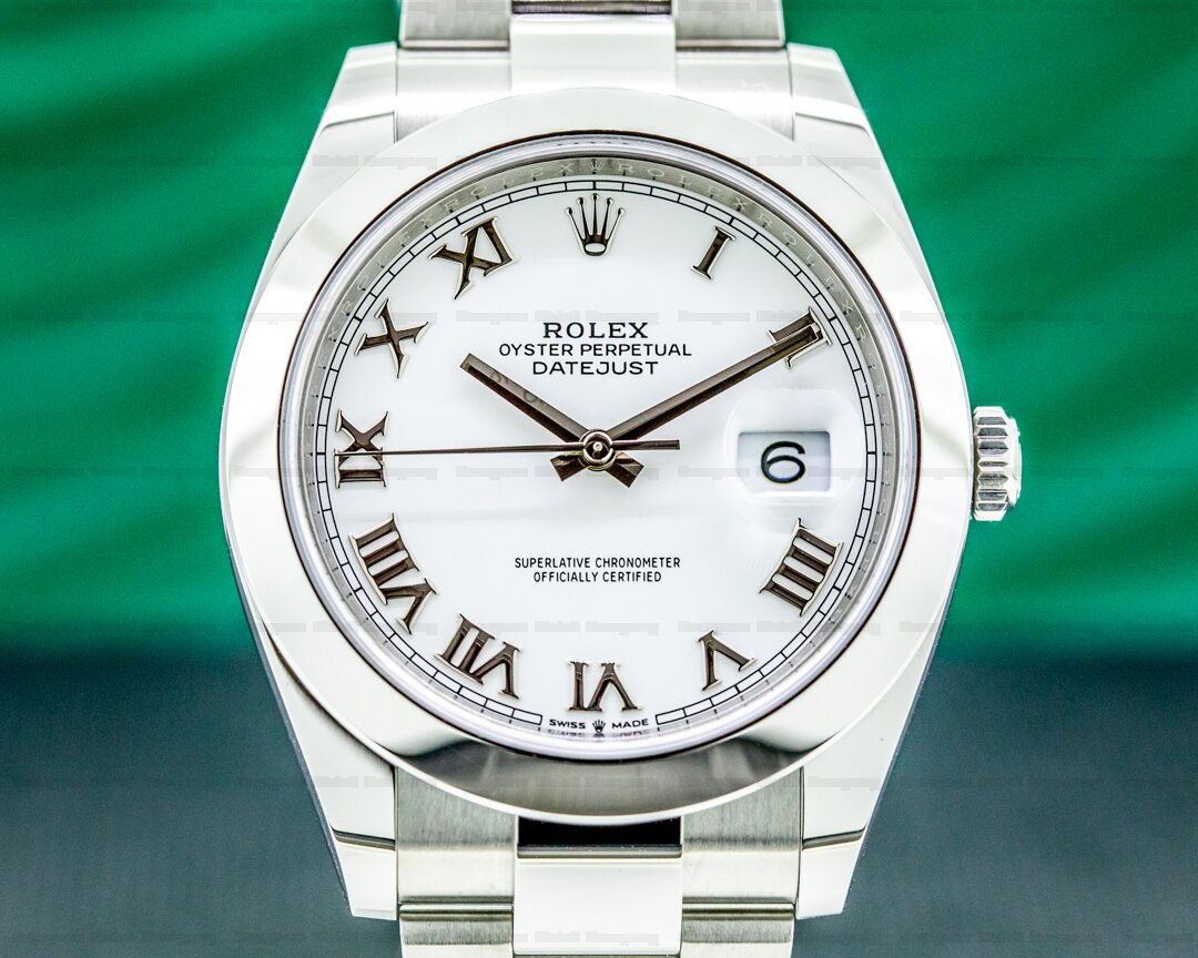Rolex Datejust 41 126300 White Roman Dial SS 2021 Ref. 126300