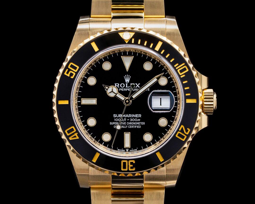 Rolex Submariner 126618 18K Yellow Gold Black Dial 2021 Ref. 126618LN