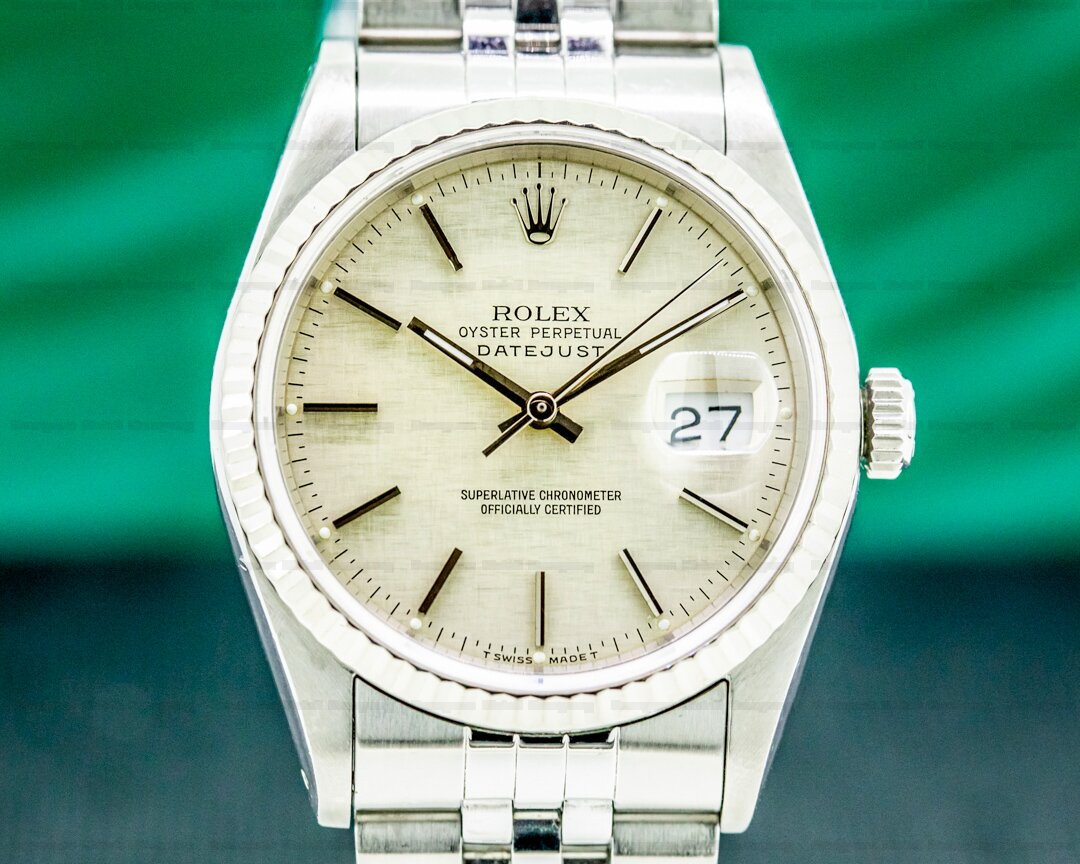 Rolex Datejust Silver Stick Dial SS Jubilee Ref. 16234