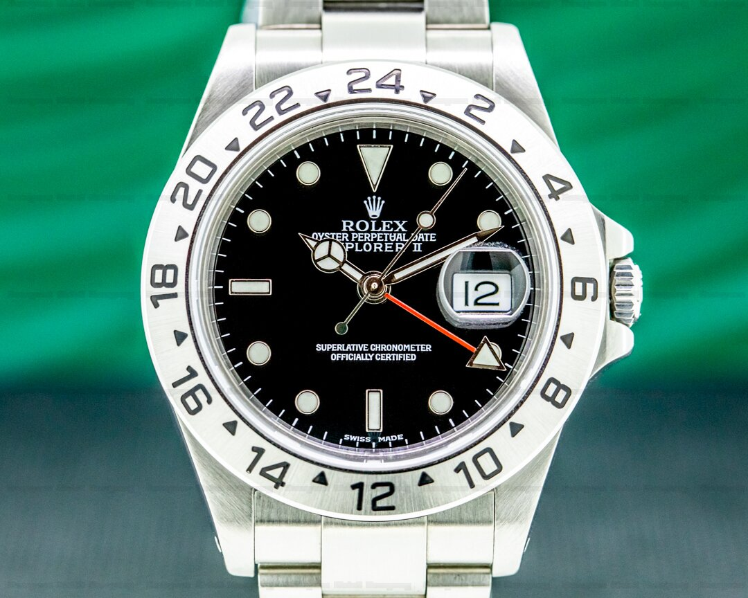 Rolex Explorer II 16570 Black Dial COMPLETE Ref. 16570