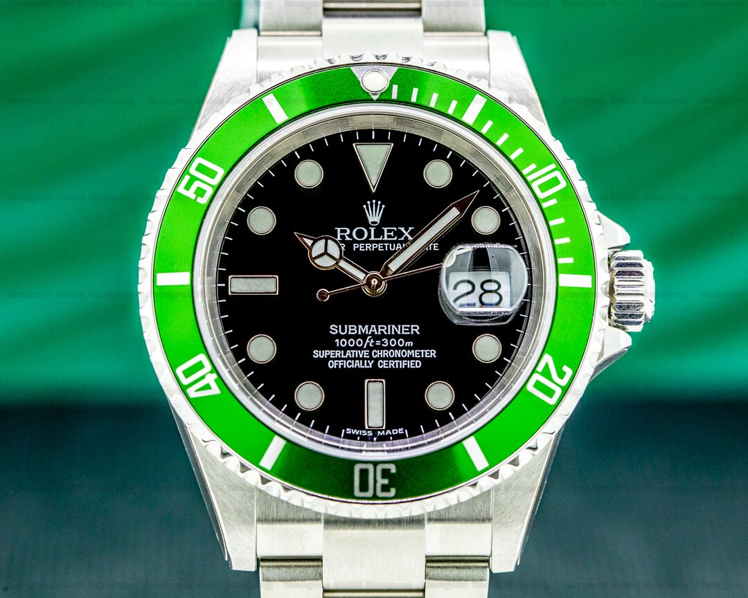 Rolex Submariner 50th Anniversary Kermit SS Green Bezel NEW OLD STOCK Ref. 16610LV