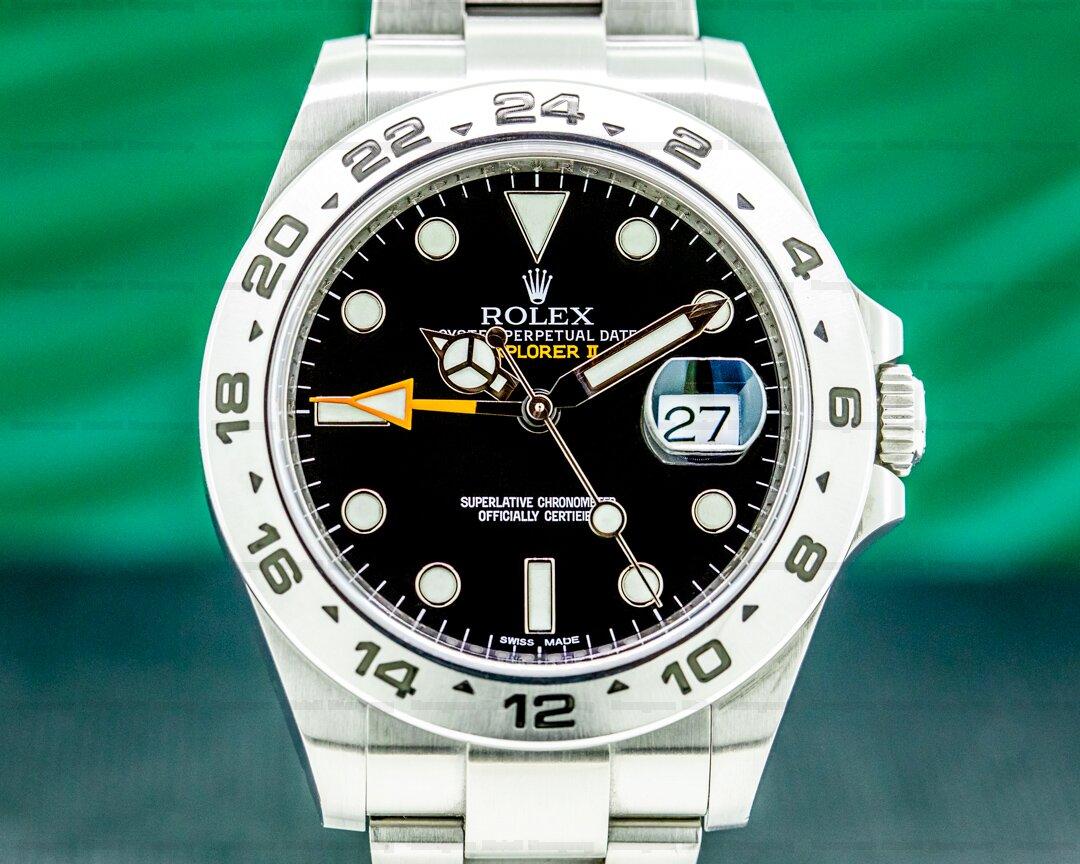Rolex Explorer II Black Dial SS Ref. 216570