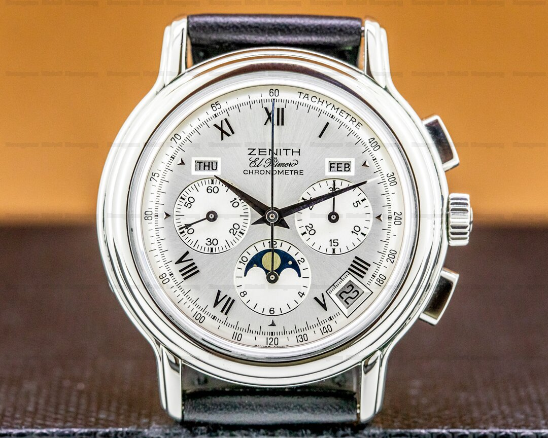 Zenith Chronomaster Moon Strap Silver Dial 40MM Ref. 01.0240.410