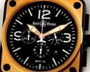 Bell & Ross BR 01-94 Chronograph Pink Gold Ref. BR-01-94-SR