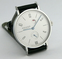 Nomos Tangente Steel w/ power reserve and date Ref.