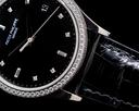 Patek Philippe Calatrava 5297G 18K White Gold Black Dial / Diamond Bezel Ref. 5297G-001