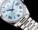 Rolex Day Date 228206 Platinum Blue Dial Roman Numeral 40MM 2020 Ref. 228206