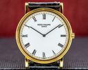 Patek Philippe Calatrava 18K Yellow Gold Manual Wind Silver Roman Dial SHARP Ref. 3520