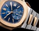 Patek Philippe Nautilus 5980/1AR Chronograph Blue Dial 18K Rose / Steel Ref. 5980/1AR-001