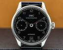 IWC Portuguese 7 Day Automatic SS Black Dial Ref. IW500109