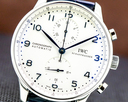 IWC Portuguese Chronograph SS Silver Dial / Blue Numerals Ref. IW371446