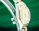Rolex Lady Oyster Perpetual 18K / SS Silver Dial 26MM Ref. 76193