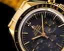 Omega Speedmaster Yellow Gold / Bracelet Black Dial RARE Ref. 3195.50.00