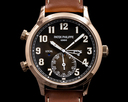 Patek Philippe Calatrava 5524R Pilot Travel Time 18k Rose Gold 2019 Ref. 5524R-001