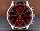 IWC Portugieser Chronograph SS Red Burgundy Dial UNWORN Ref. IW371616