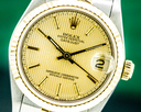 Rolex Oyster Perpetual Datejust Champagne Tapestry Dial 18K / SS 31MM Ref. 68273