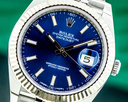 Rolex Datejust 41 126334 Blue Stick Dial SS Jubilee Ref. 126334
