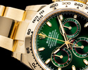 Rolex Daytona 116508 18k Yellow Gold / Green Dial UNWORN 2021 Ref. 116508