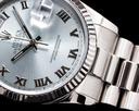 Rolex Day Date 118239 President Ice Blue Roman 18K White Gold Ref. 118239