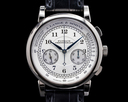 A. Lange and Sohne 1815 Flyback Chronograph 401.026 Silver Dial 18K White Gold FIRST SERIES Ref. 401.026