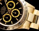 Rolex Daytona Zenith Black Dial 18K Yellow Gold / Bracelet NICE w PAPERS Ref. 16528