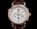 A. Lange and Sohne Datograph Perpetual 410.032 Calendar Chronograph 18K Rose Gold Ref. 410.032