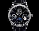 A. Lange and Sohne Langematik Perpetual Platinum Black Dial 820.036E BAGUETTE BEZEL Ref. 820.036E