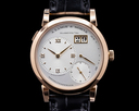 A. Lange and Sohne Lange 1 101.032 18K Rose Gold Silver Dial Ref. 101.032