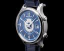 Jaeger LeCoultre Master Control Memovox Timer Alarm SS Blue Dial LIMITED UNWORN Ref. Q410848J