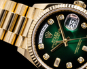Rolex Day Date President 128238 Green Ombre Fume Diamond Dial 2020 Ref. 128238