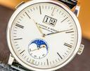 A. Lange and Sohne Saxonia 384.026 Moon Phase 384.026 Automatik 18K White Gold / Silver Dia Ref. 384.026
