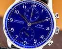 IWC Portugieser Chronograph Blue Dial Edition 150 Years LIMITED Ref. IW371601