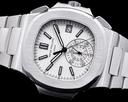 Patek Philippe Nautilus 5980 Chronograph White Dial SS FULL SET Ref. 5980/1A-019