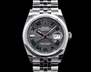 Rolex Datejust 36 126200 Wimbeldon Slate Roman Dial SS 2021 Ref. 126200