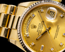 Rolex Day Date 18038 Champagne Diamond Dial Yellow Gold Ref. 18038