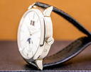 A. Lange and Sohne Saxonia Moon Phase Automatik 18K White Gold / Silver Dial UNWORN Ref. 384.026